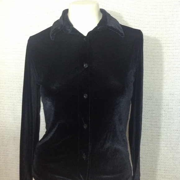 36481a23b Buffalo David Bitton Shirts & Tops | Stretch Black Velvet Button ...
